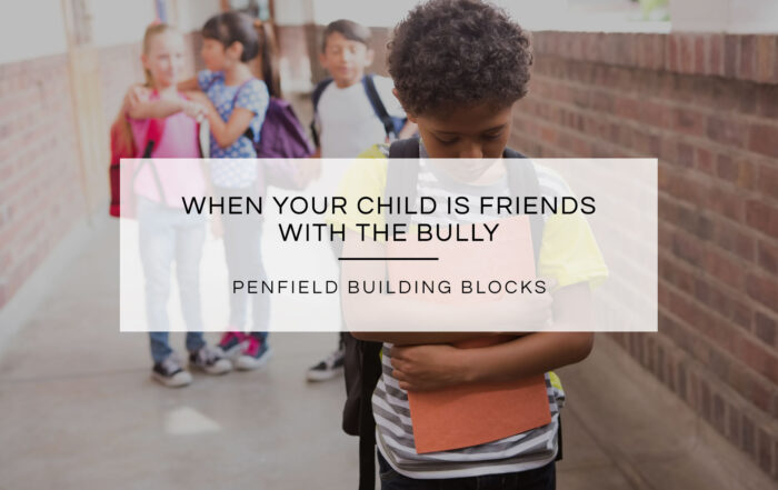 When Your Child is Friends with the Bully | Penfield Building Blocks